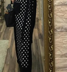 Комбинированное платье в пол