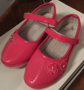 Красивые туфельки натур кожа