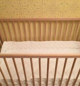 Кроватка детская б/у+ матрац ортопедический