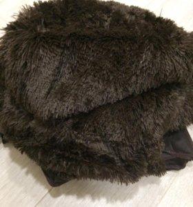 Плед коричневый венга