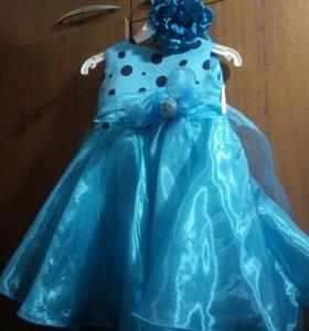 Красивое платье с очень пышной юбочкой.