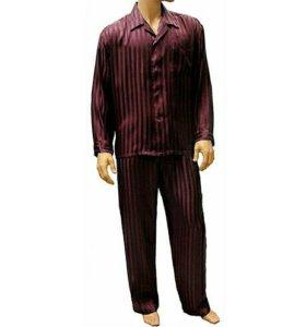 Мужская пижама шёлковая. 6цветов. 100% шёлк