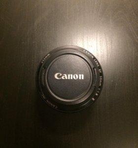 Портретный объектив Canon 50mm