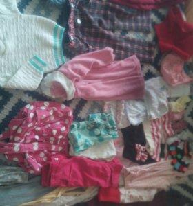 Пакет вещей на девочку 7-8-18м+подарок (добавлено)