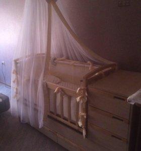 Продам кроватку 3 в 1