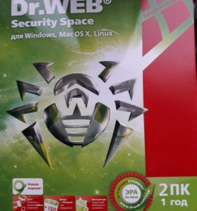 ПО Антивирус DrWeb Security Space, 12мес. на 2 ПК.