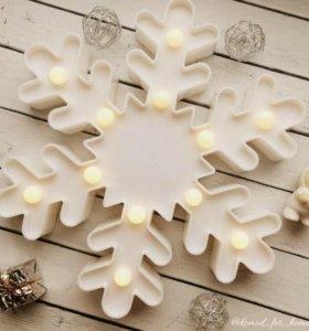 Ночник Снежинка на Новый год