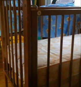 Детская кроватка+ортопедический матрас