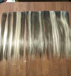 Исскуственные волосы на заколках