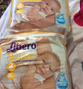 Подгузники Libero newborn размер 2 (3-6 кг)