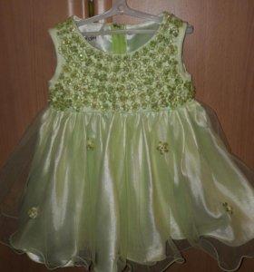 Нарядное платье 80-86 см.