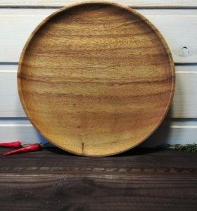 Деревянная тарелка из акации