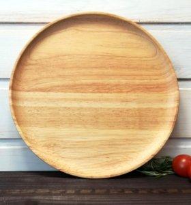 Деревянная тарелка каучук