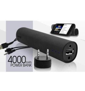Внешний аккумулятор на 4000 мАч с аудио колонкой