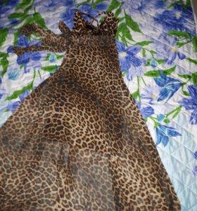 Леопардовый сарафан