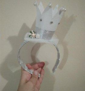 Корона для девочек снежинок