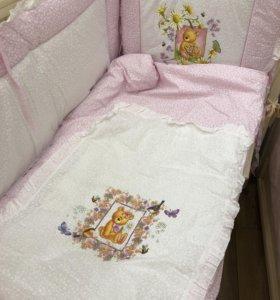 Бортики в кроватку набор из 7 предметов !!! Новые!