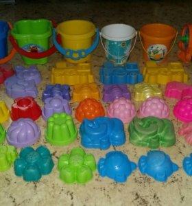 Пакет игрушек д/песочницы (57предметов)