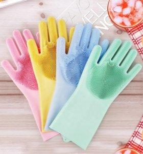 Многофункциональные силиконовые перчатки