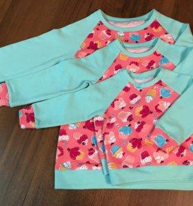 Одинаковые наряды: свитшоты Familylook