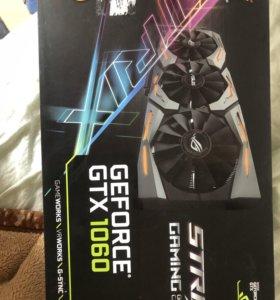 Видеокарта Asus GeForce GTX 1060 ROG strix OC6GB