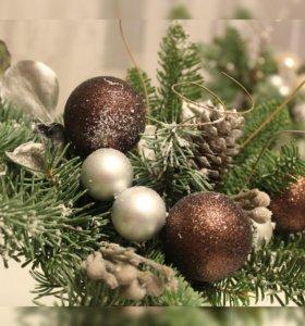 Интерьерные композиции к Новому году
