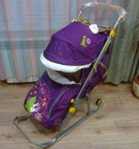 Новые Санки Коляска для ребенка Ника-6