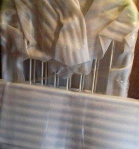 Кроватка трансформер детская и стульчик для кормле