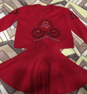 Костюмчик юбка-свитер для девочки 12-13 лет