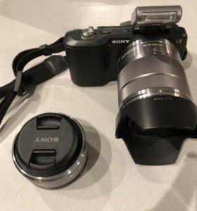 Sony NEX-3 double lens-16mm f2.8 + 18-55 как новый