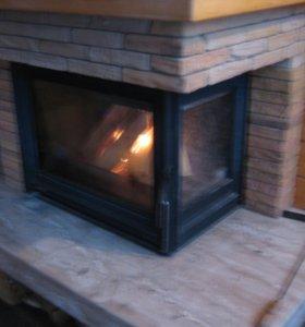 Замена огнеупорного стекла в кмине