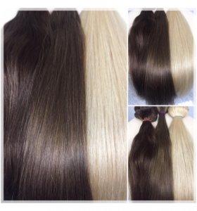Аренда натуральные волосы на заколках в наборах