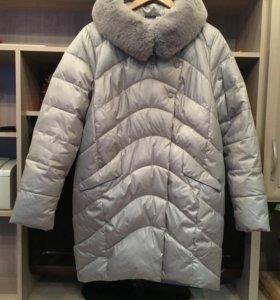 Зимний пуховик/ пальто/ полупальто 48-50 р