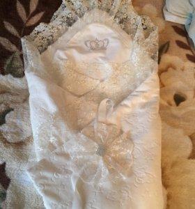 Конверт одеяло и комбез на выписку