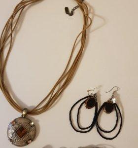 Бижутерия - серьги, браслет, подвеска