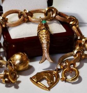 Золотой браслет 750 Италия