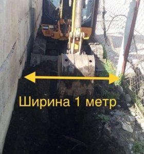 Копаем под воду, газ, фундамент и т.д.