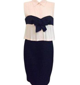 Платье Chanel оригинал, нежно-розовое с черным