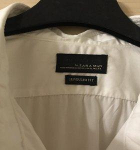 Мужская рубашка Zara super slim fit
