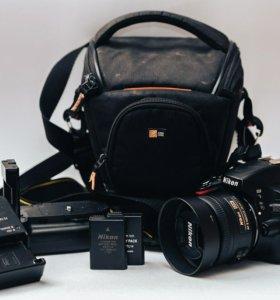 Фотоаппарат nikon d5100 + nikkor 35mm, 50mm