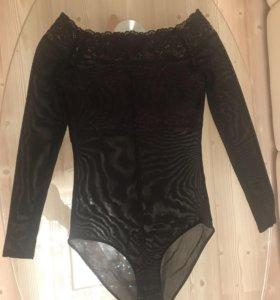 Кружевная блузка-боди
