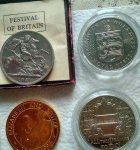 Продам большие монеты разных стран