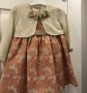 Платье из парчи  с подкладкой и горжеткой  ) 92