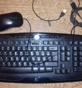 Клавиатура Logitech + мышка