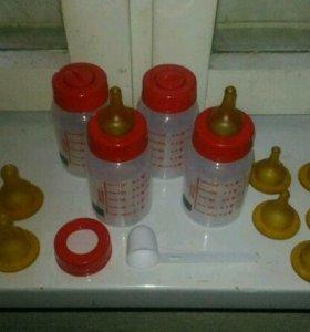 Бутылочки роял канин - 4 шт(новые), сосок 15шт