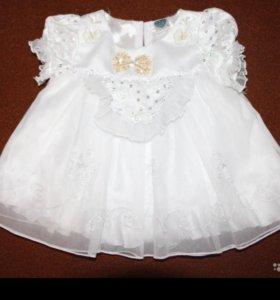 Белое, праздничное платье