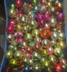 Новогодние игрушки ссср, шарики