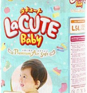 Японские подгузники L 54шт LaCute Baby