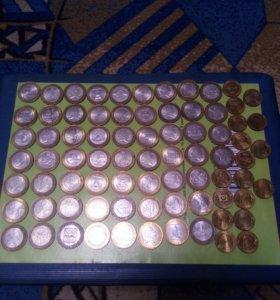 Монеты юбилейнные 10 рублей