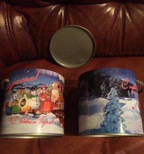 Новогодняя упаковка для сладких подарков( тубус)